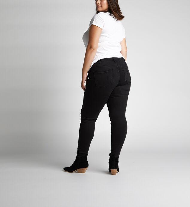 Aiko Mid Rise Skinny Leg Jeans Plus Size, , hi-res