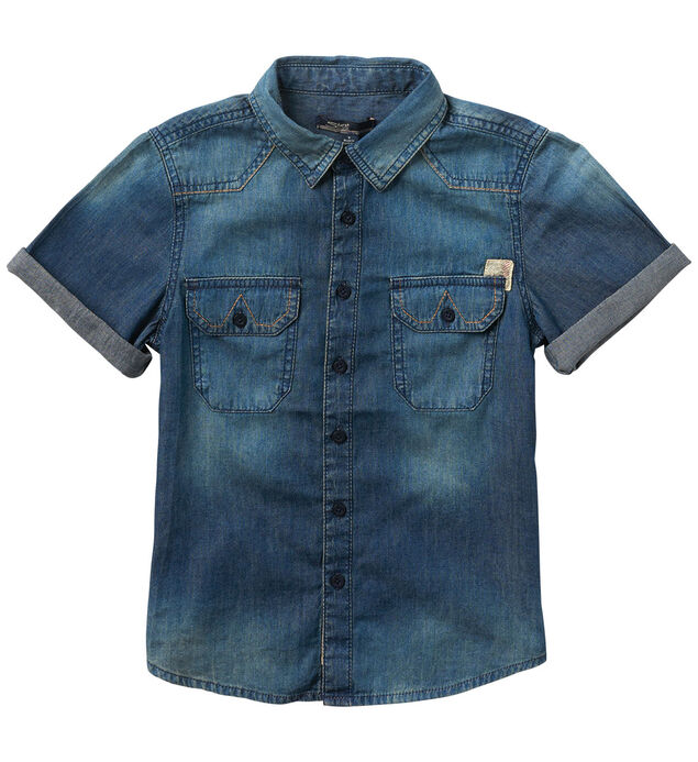 Short-Sleeve Denim Shirt (4-7)