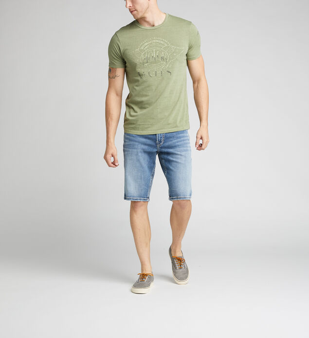 Deon Short-Sleeve Graphic Tee, Green, hi-res