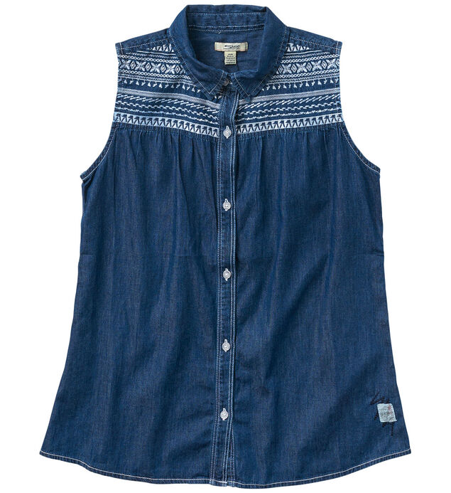 Sleeveless Denim Blouse (4-7)