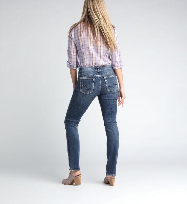 Elyse Mid Rise Straight Leg Jeans, , hi-res