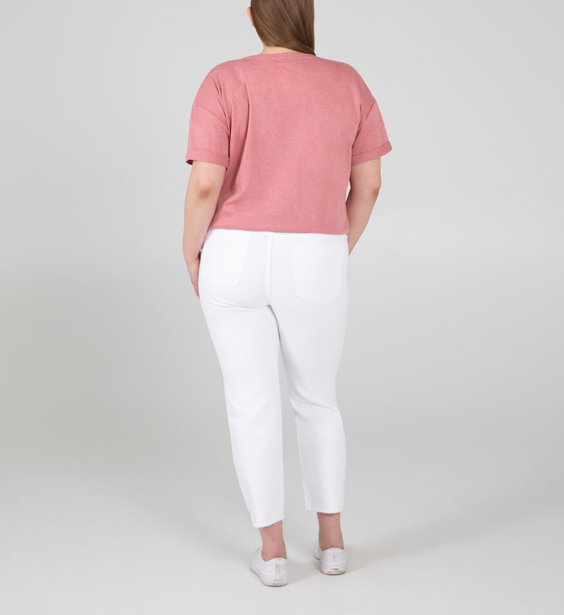 Most Wanted Mid Rise Straight Crop Jeans Plus Size Back
