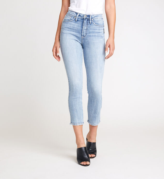 Calley Super High Rise Slim Crop Jeans