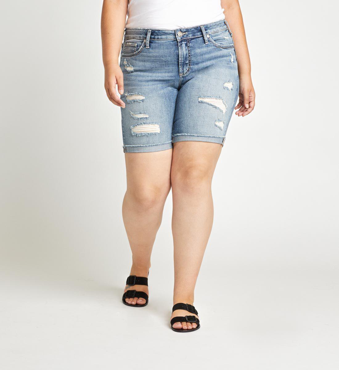 Suki Mid Rise Bermuda Short Plus Size Front
