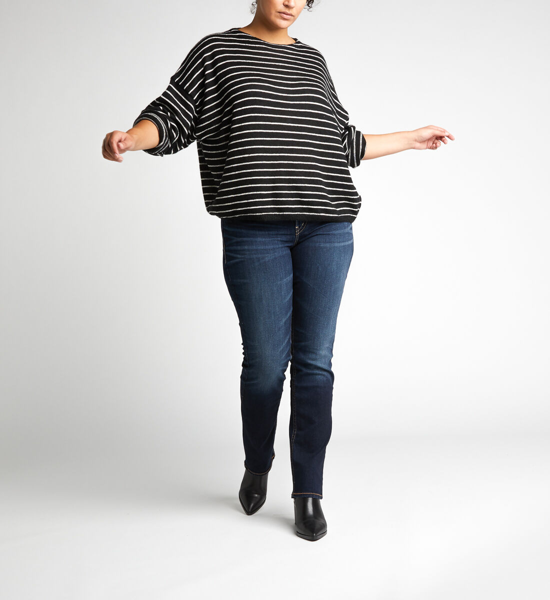 Suki Mid Rise Straight Leg Jeans Plus Size Alt Image 1