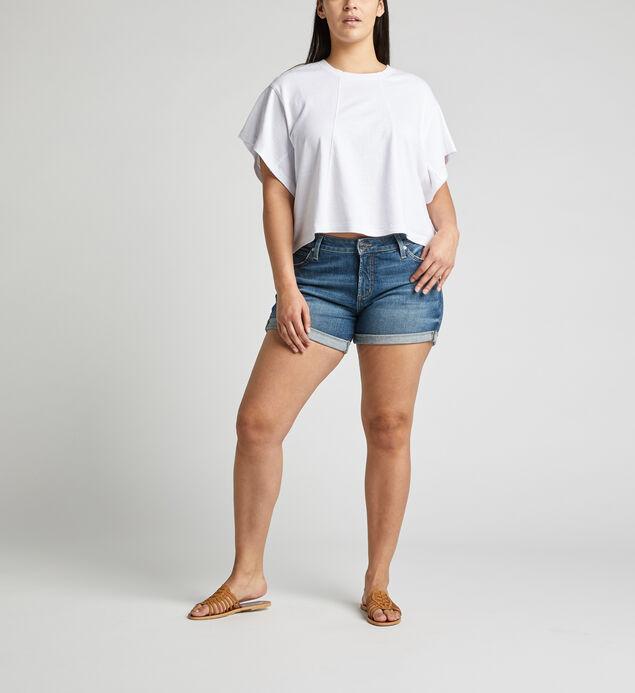 Boyfriend Mid Rise Short Plus Size