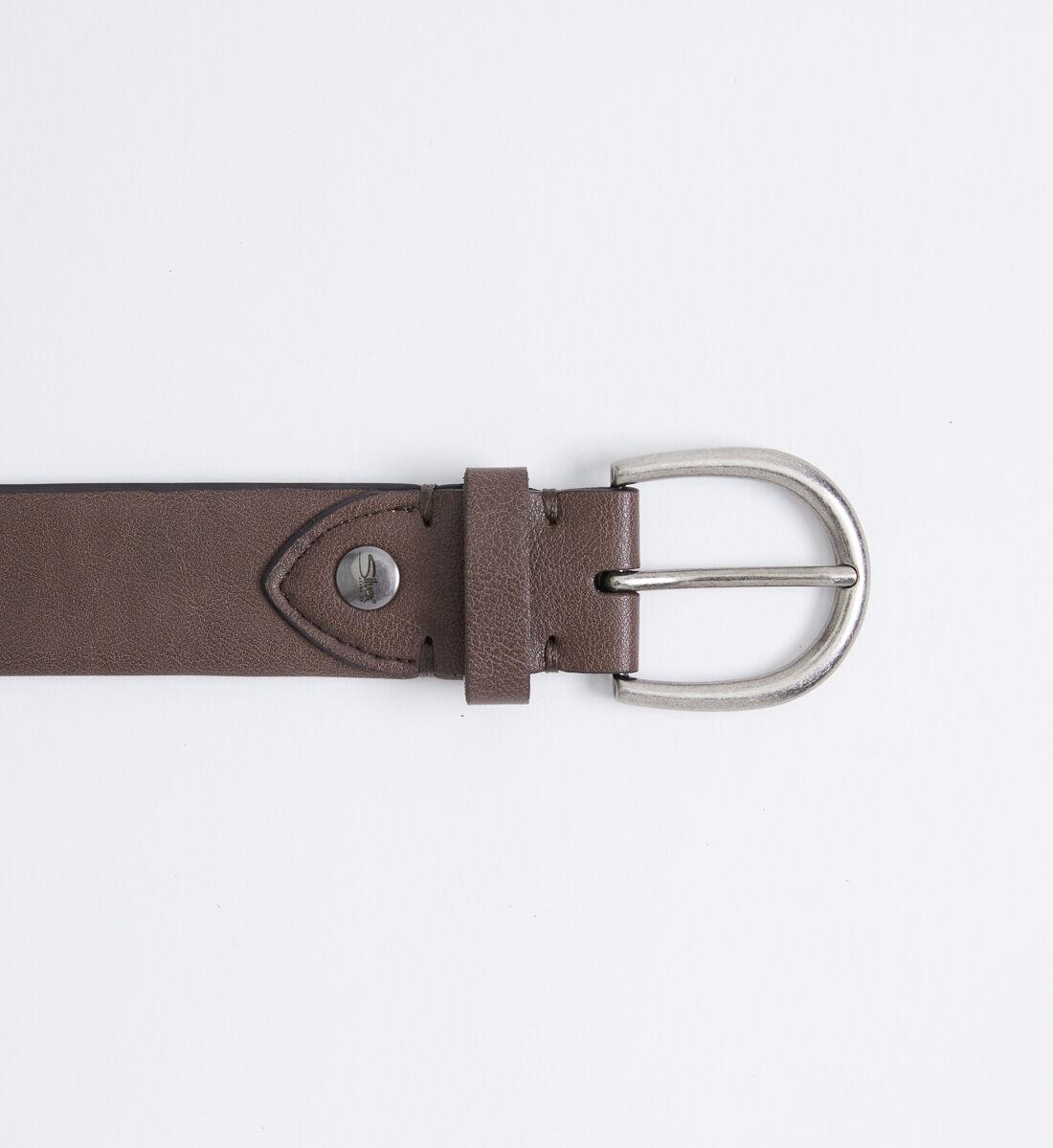 Flexible Stretch Womens Belt,Brown Front