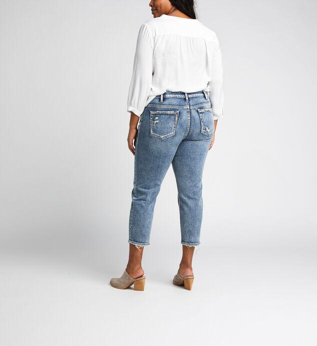 Elyse Mid Rise Slim Crop Jeans Plus Size, , hi-res
