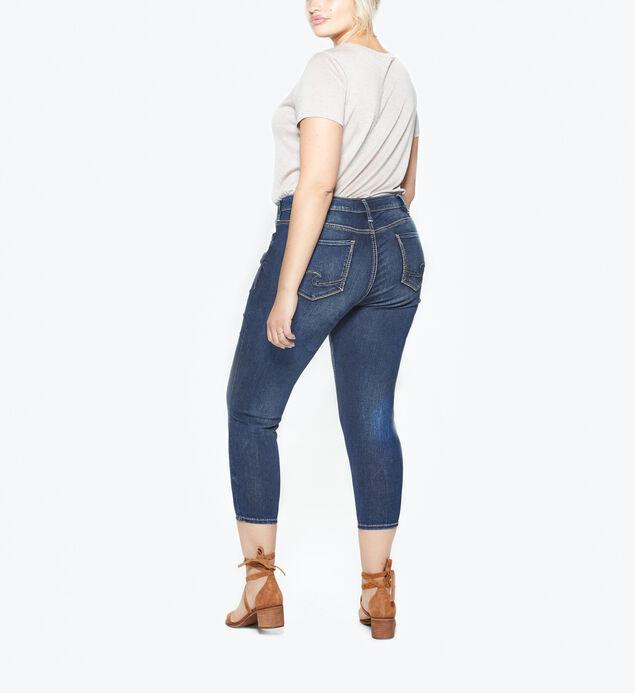 Suki Plus Size Skinny Crop Dark Wash, , hi-res