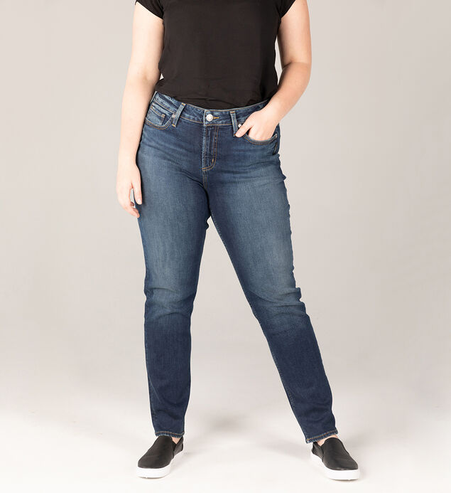 Avery High Rise Straight Leg Jeans Plus Size - Eco-Friendly Wash
