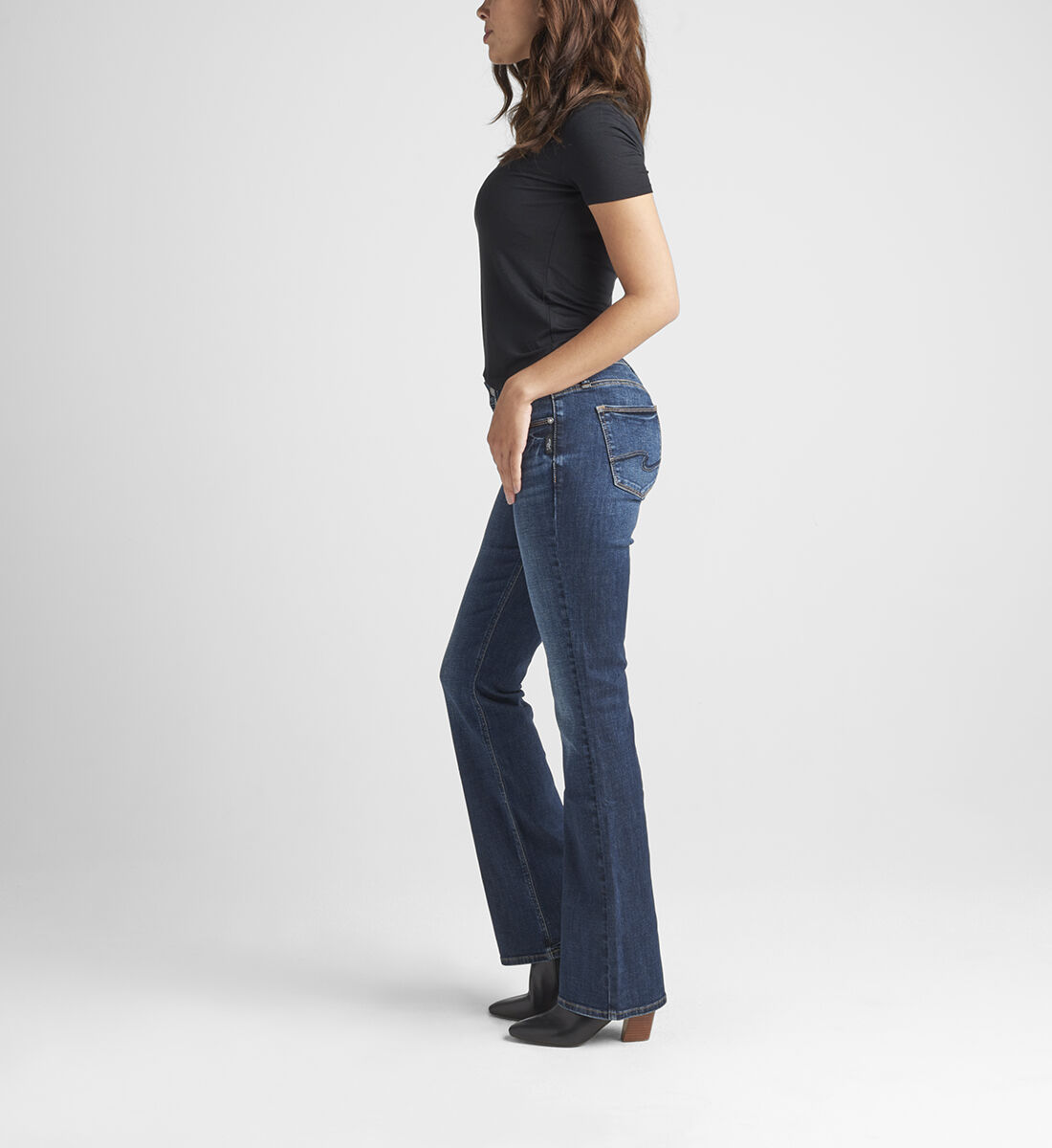 Suki Mid Rise Bootcut Jeans Side