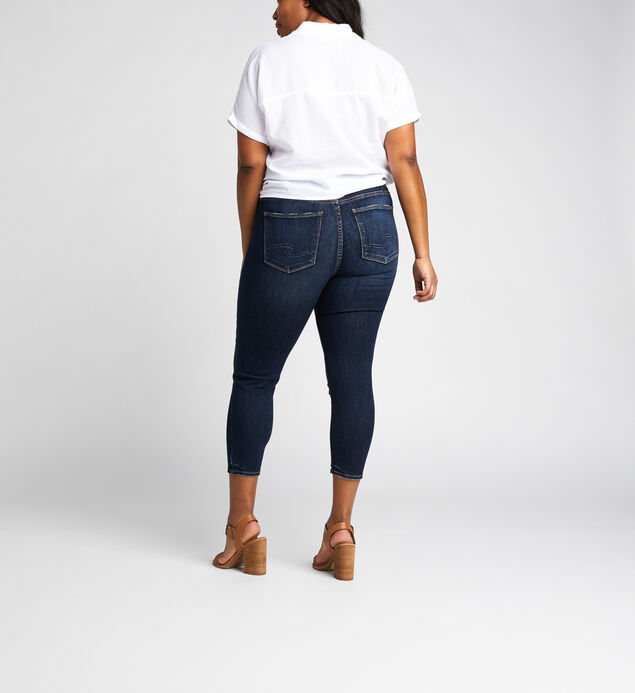 Avery High Rise Skinny Crop Jeans Plus Size, , hi-res