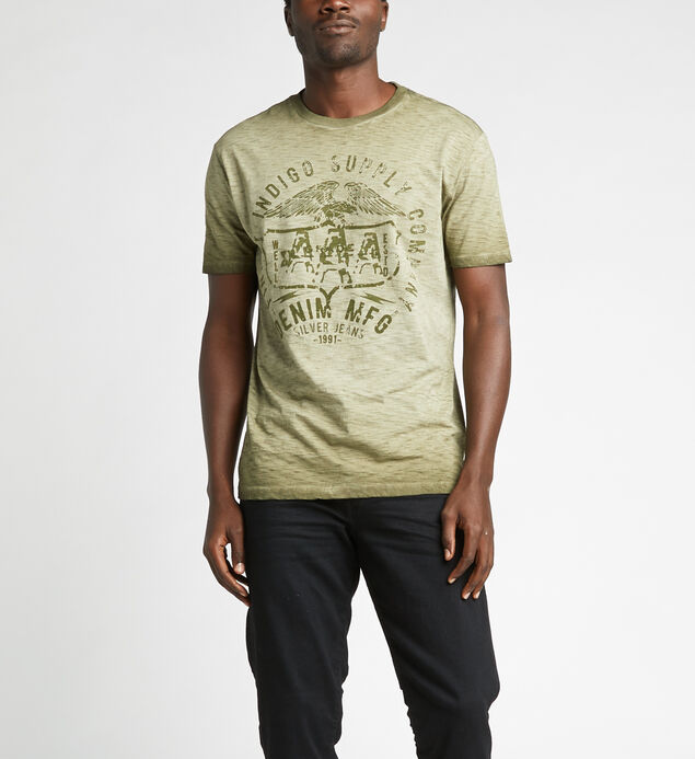 Dimitri Short-Sleeve Slub Graphic Tee