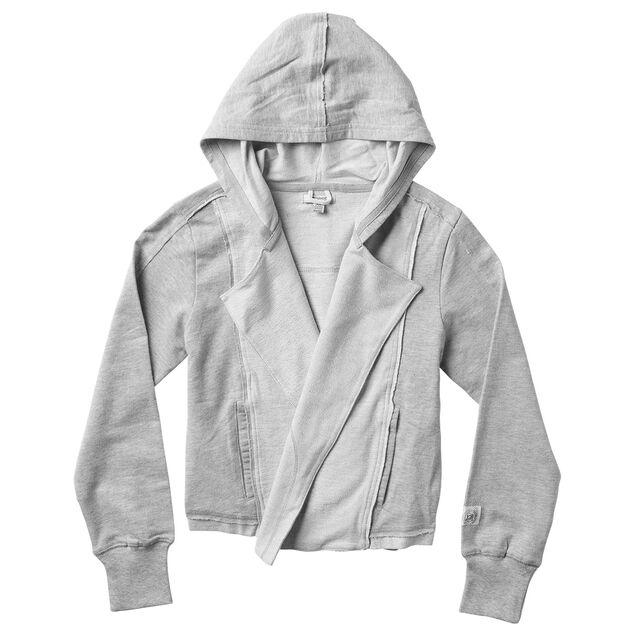Long Sleeve Open Sweat Shirt