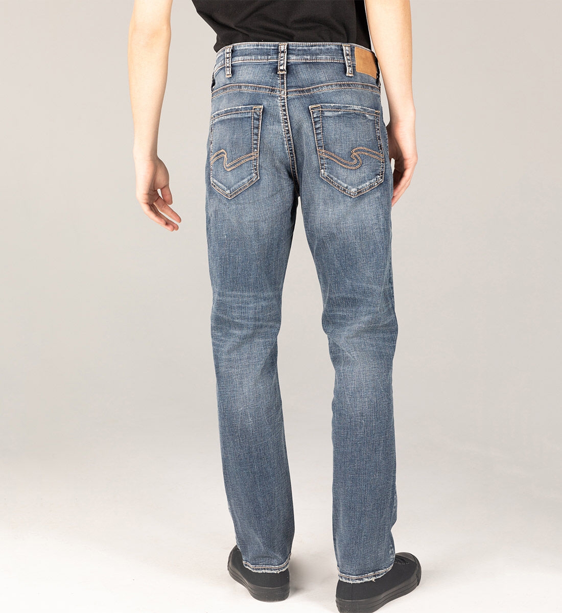 Grayson Easy Fit Straight Leg Jeans Big & Tall Back