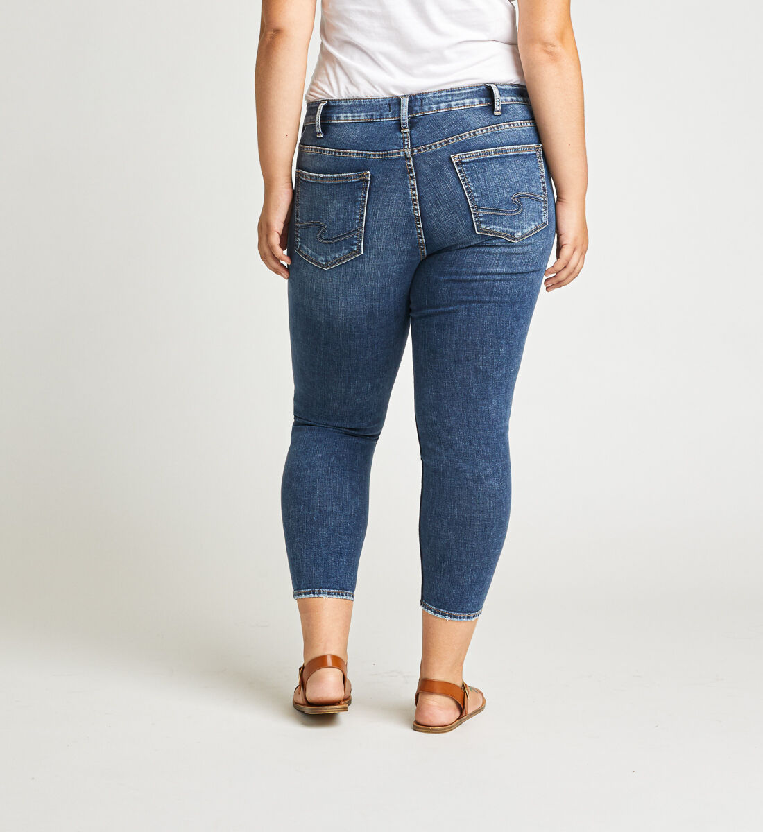 Suki Mid Rise Skinny Crop Jeans Plus Size Back