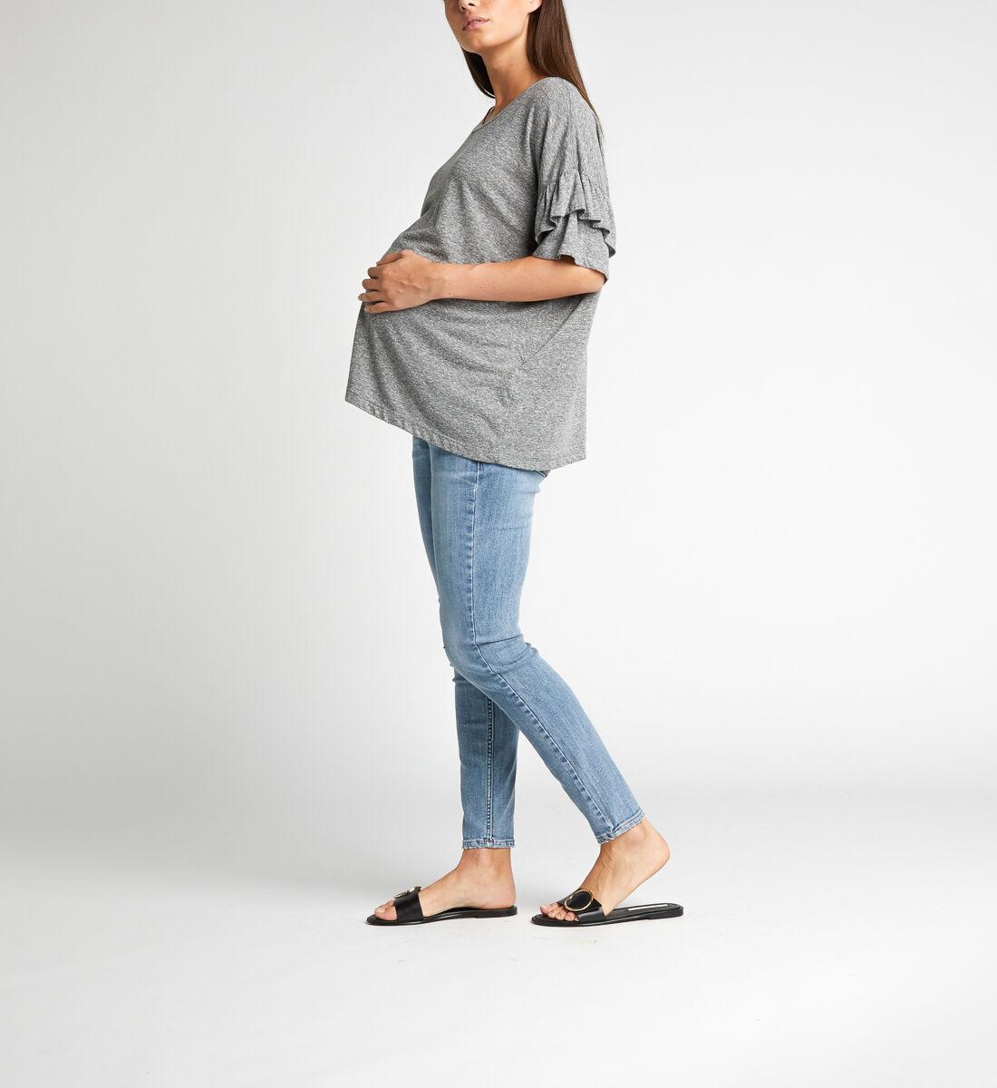 Avery Skinny Leg Maternity Jeans Front