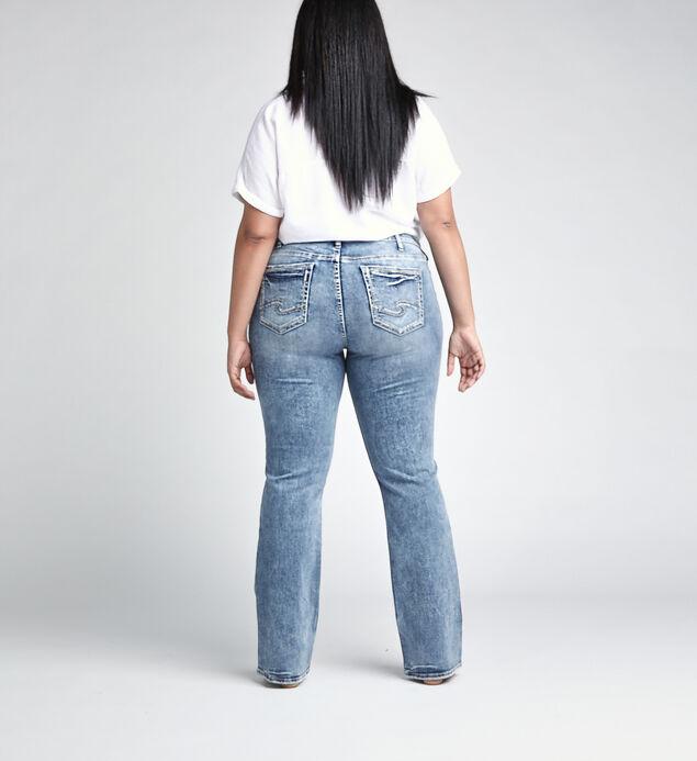 Elyse Mid Rise Slim Bootcut JeansPlus Size, , hi-res