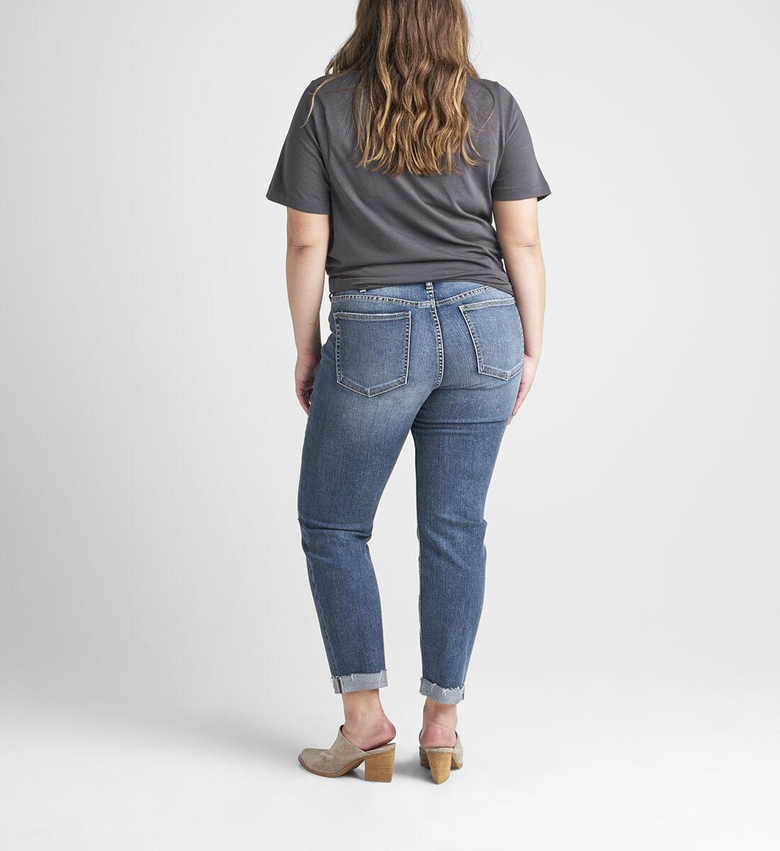 Beau Mid Rise Slim Leg Jeans Plus Size Back