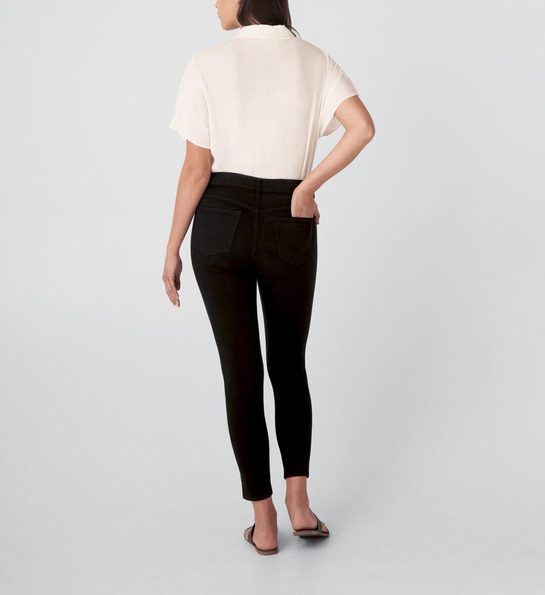 Suki Mid Rise Skinny Jeans,Black Back