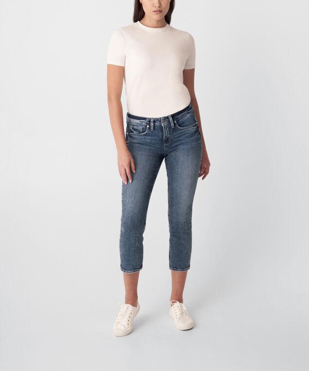 Suki Mid Rise Straight Crop Jeans