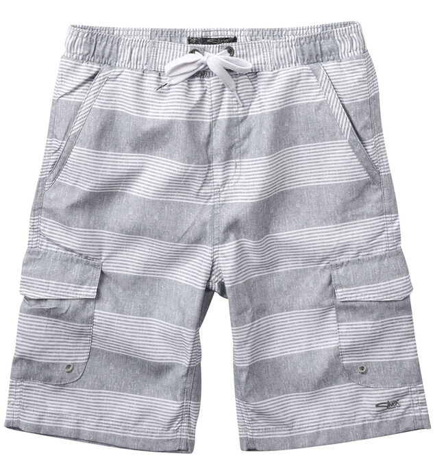 Grey Striped Swim Trunks (7-16)
