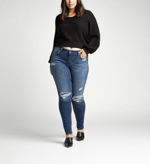 Elyse Mid Rise Skinny Plus Size Jeans
