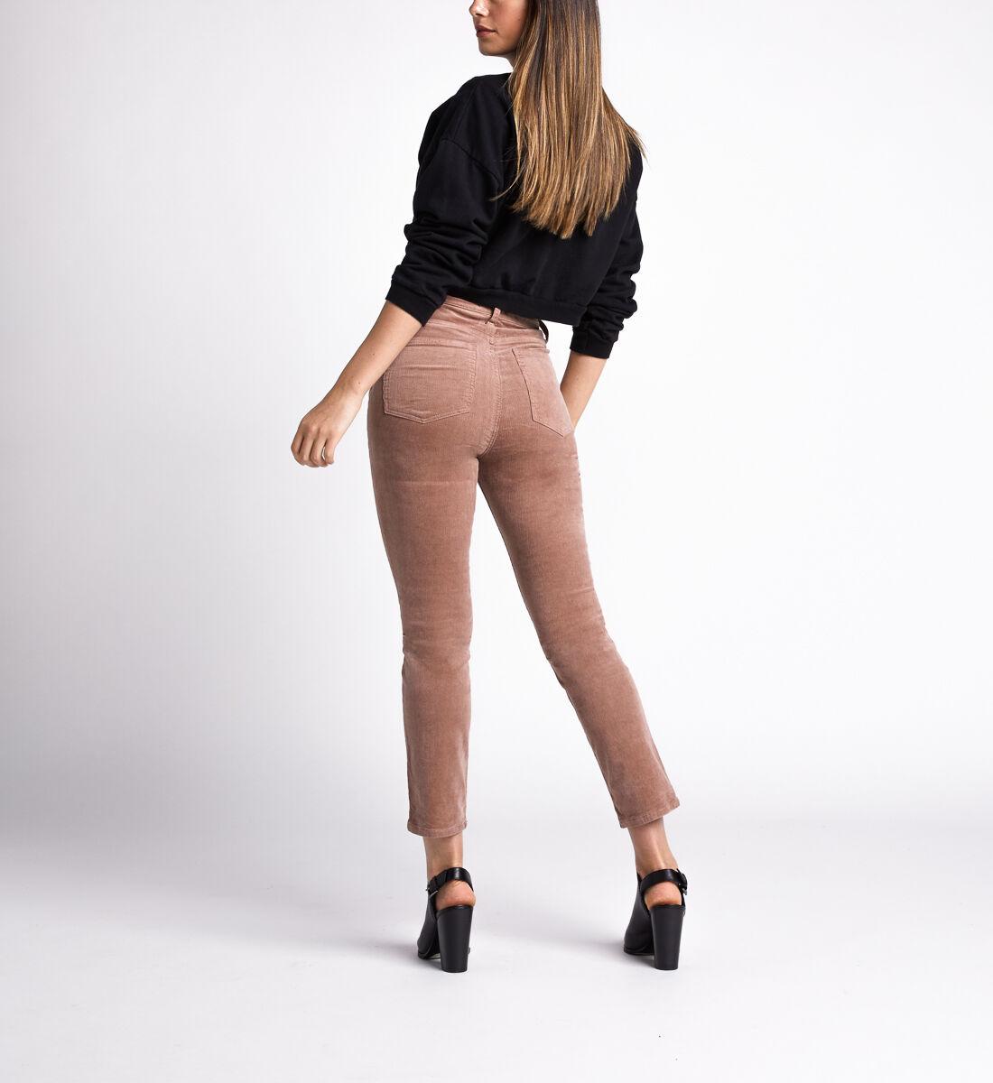 High Note High Rise Slim Leg Pants,Blush Back