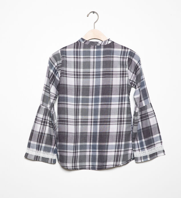 Long-Sleeve Plaid Tunic (4-7), , hi-res