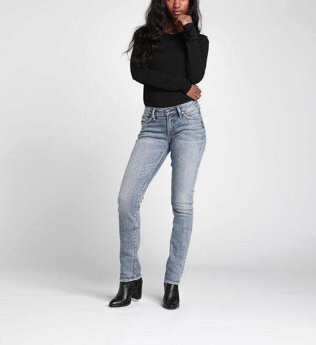Suki Mid-Rise Curvy Straight Leg Jeans