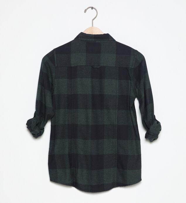 Long-Sleeve Plaid Shirt (7-16)