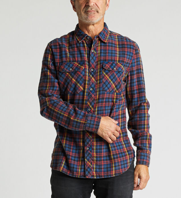 Cornell Long-Sleeve Plaid Shirt