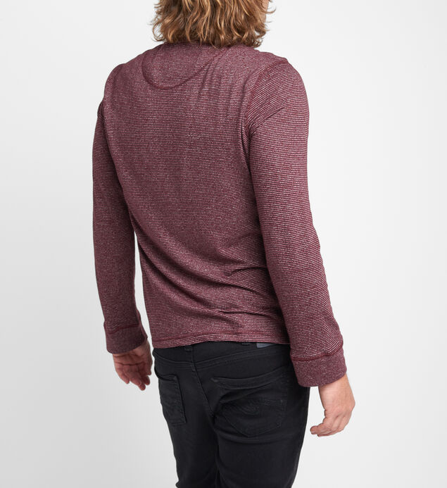 Becket Long-Sleeve Striped Henley, , hi-res