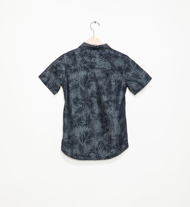 Short-Sleeve Palm Button-Down Shirt (7-16), , hi-res
