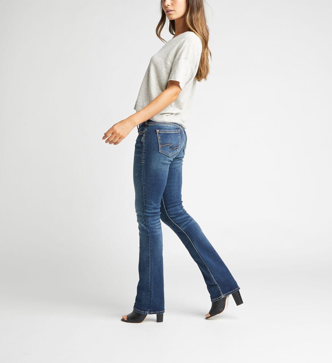 Suki Mid Rise Slim Bootcut Jeans,Indigo Side