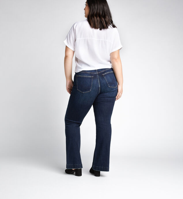 Avery High Rise Trouser Pants Plus Size, Indigo, hi-res