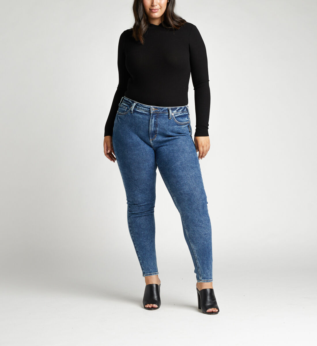 High Note High Rise Skinny Plus Size Jeans Front