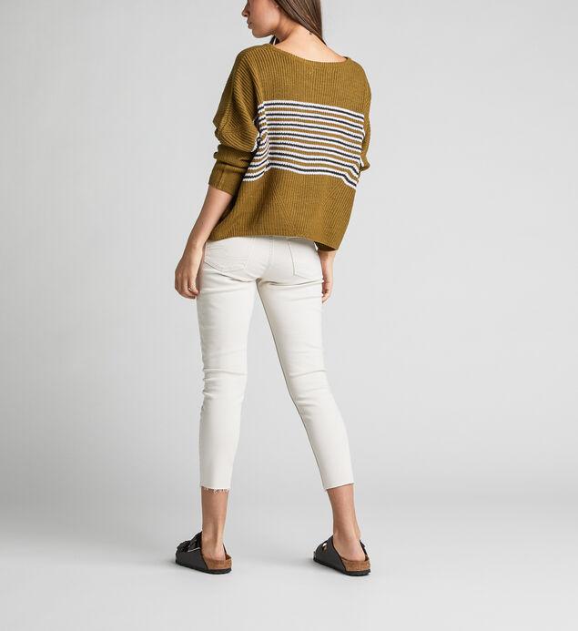 Avery High Rise Skinny Crop Pants, Cream, hi-res