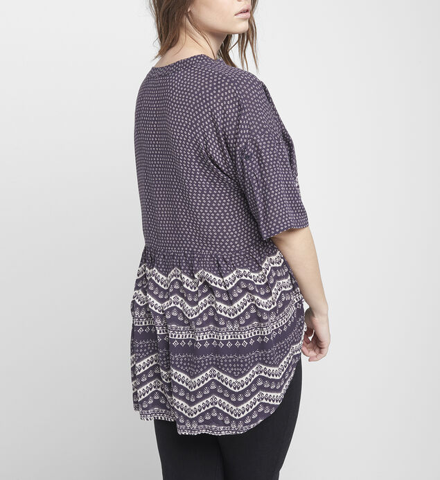Eden Printed High-Low Blouse, , hi-res