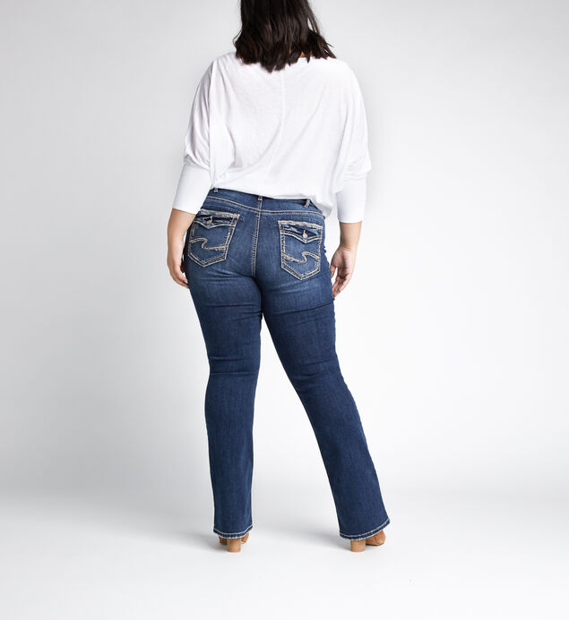 Avery High Rise Slim Bootcut Jeans Plus Size, Indigo, hi-res