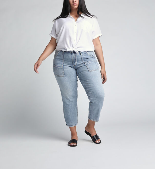 In The Loop Mid Rise Ankle Slim Leg Jeans Plus Size