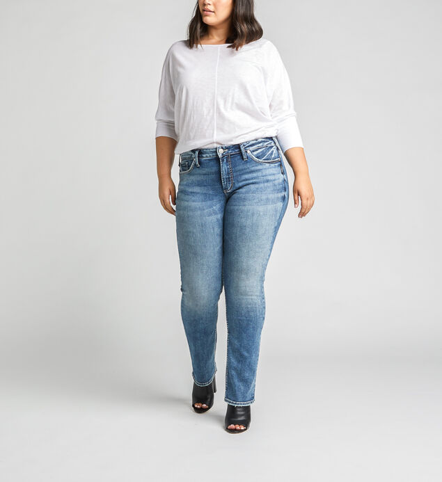Suki Mid Rise Straight Jeans Plus Size