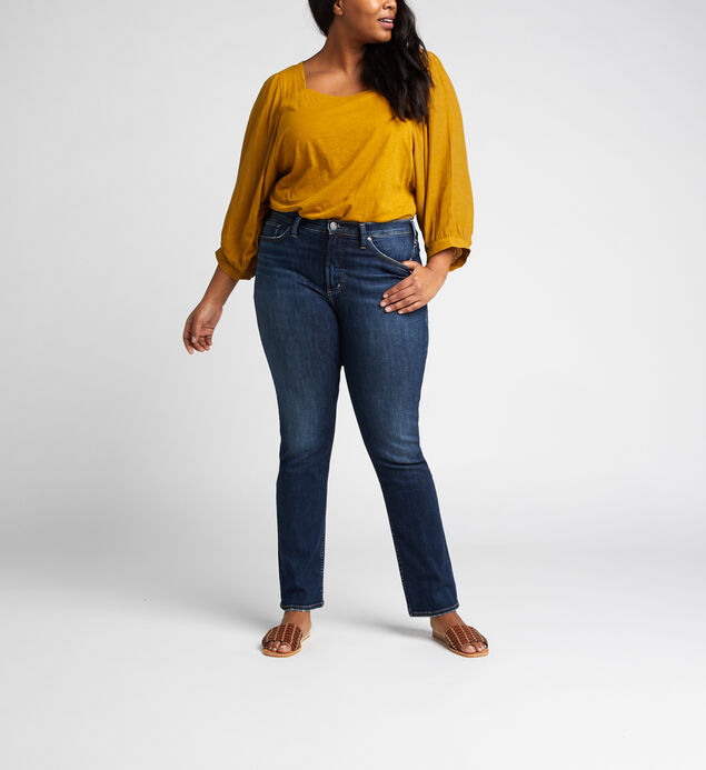 Calley Super High Rise Straight Leg Jeans Plus Size