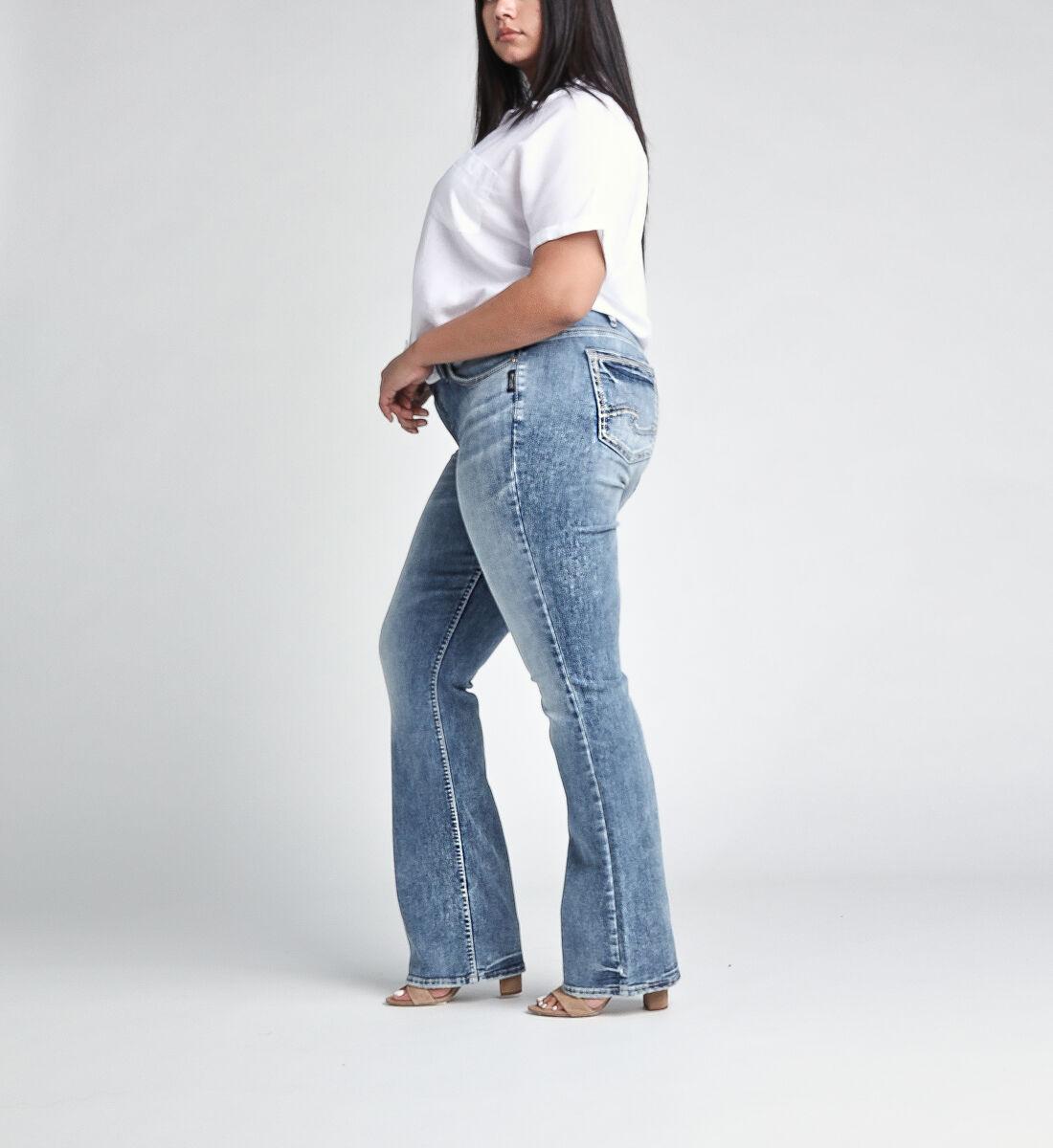 Elyse Mid Rise Slim Bootcut JeansPlus Size Side