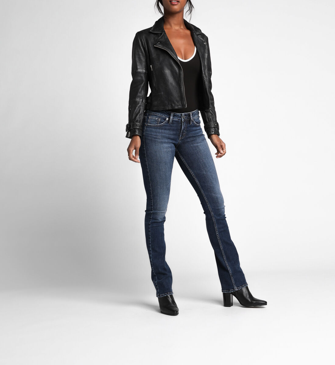 Suki Mid Rise Slim Bootcut Jeans Alt Image 1