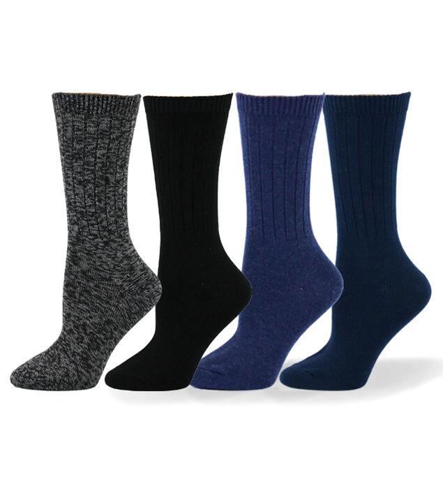 Ribbed Mid-Calf Socks