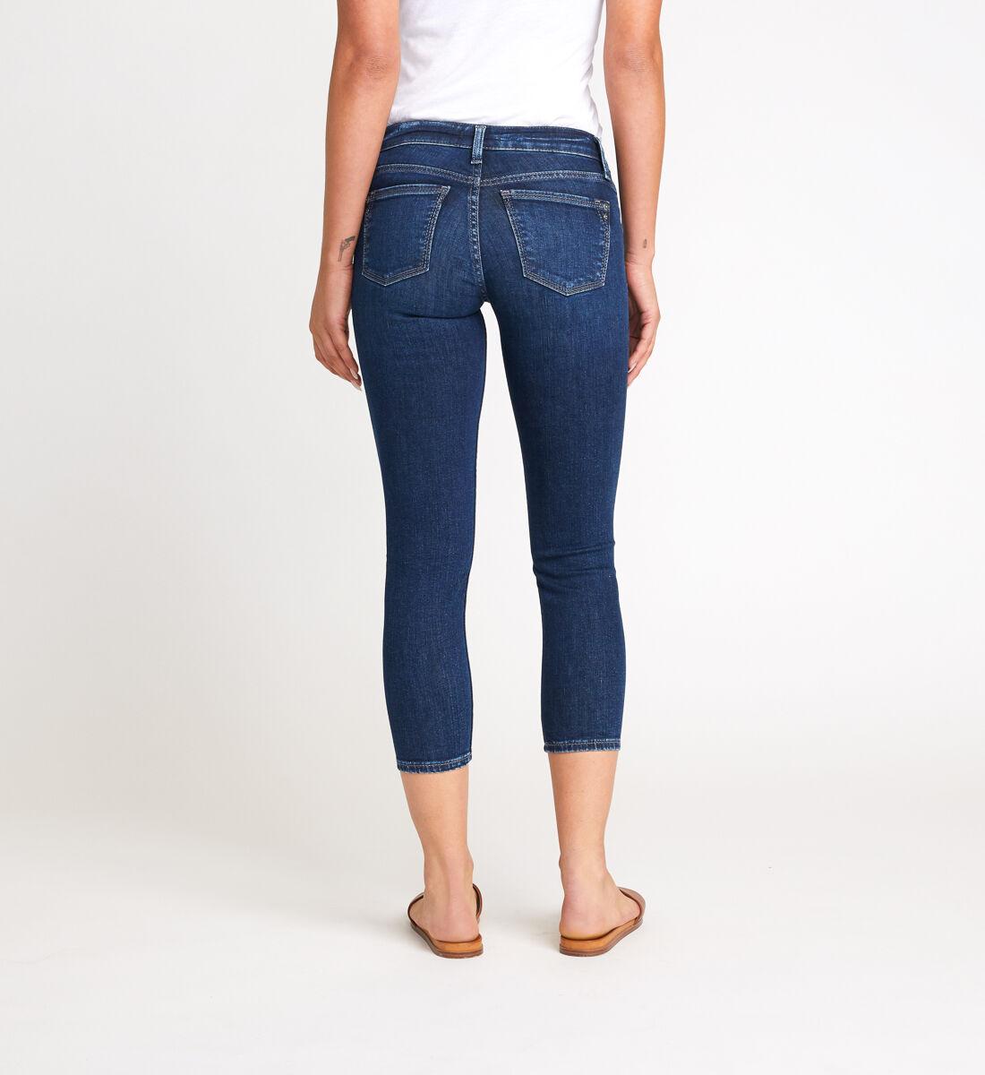 Suki Mid Rise Skinny Crop Jeans Back