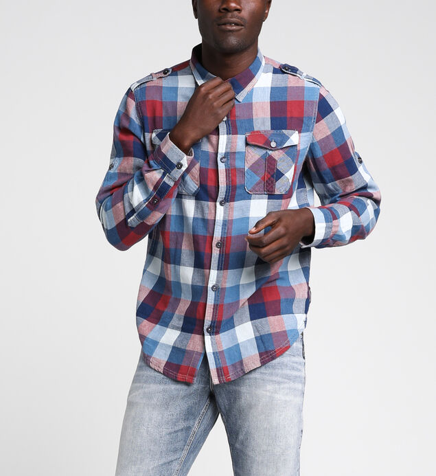 Chase Plaid Roll Up Sleeve Shirt