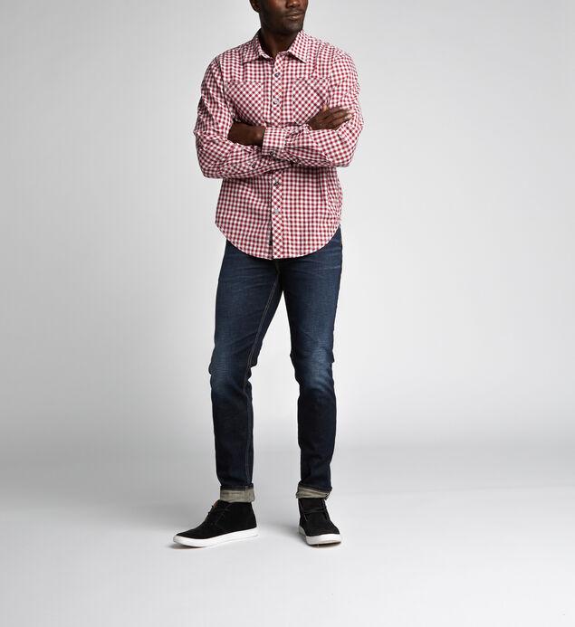 Ron Long-Sleeve Plaid Shirt d5509f4dead