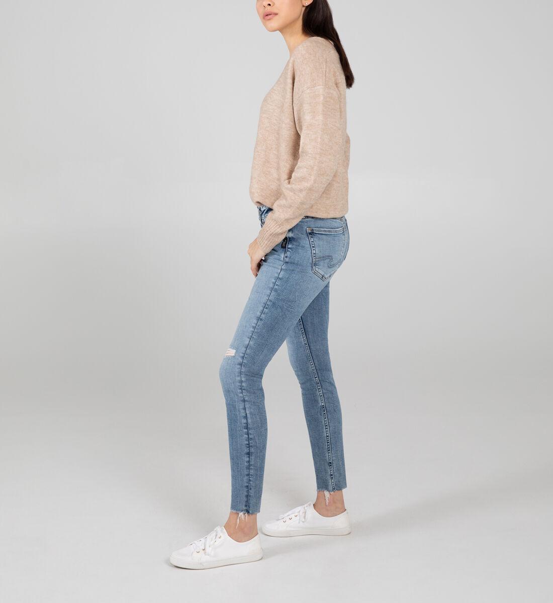 Suki Mid Rise Skinny Jeans Side